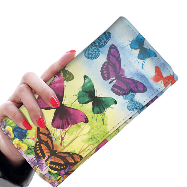 Colorful Butterflies - Women's Wallet Purse - Wish Epic