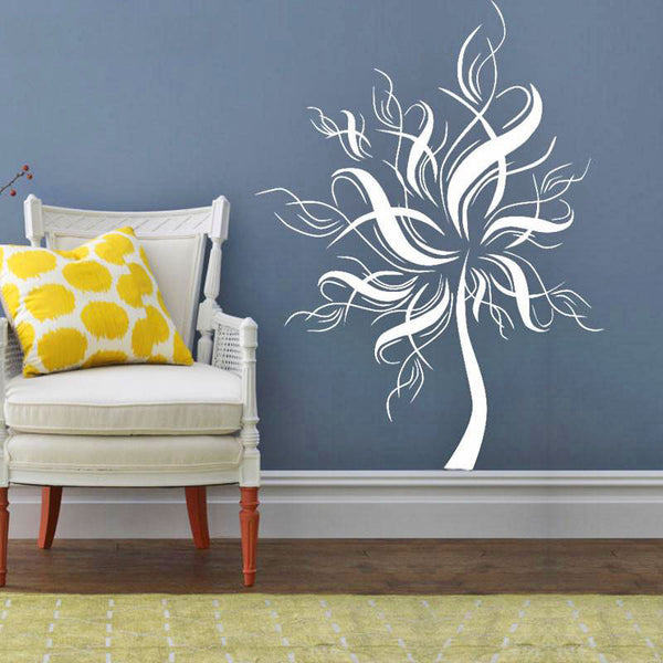 Decorative White Tree Wall Sticker - Wish Epic