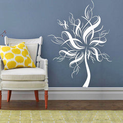 Decorative White Tree Wall Sticker