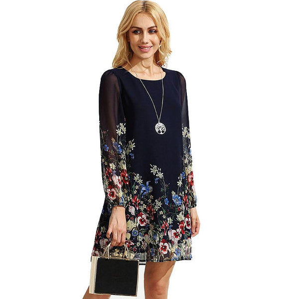 Elegant Floral Dress For Women - Wish Epic