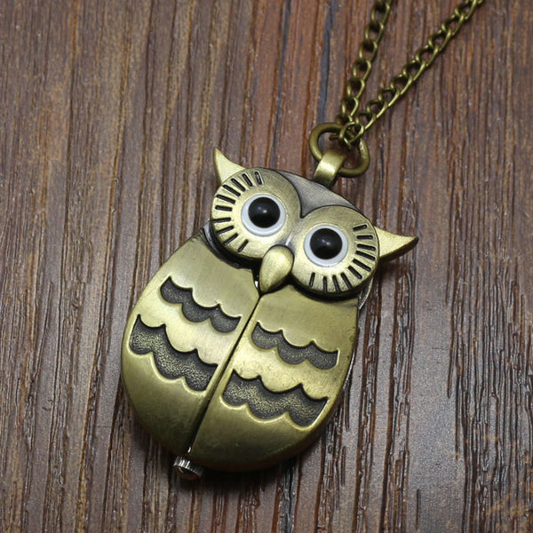 Lovely Owl Necklace Pocket Watch - Wish Epic