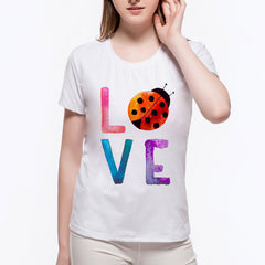Ladybug Love Cotton T-Shirt For Women