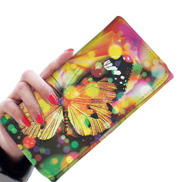 Rainbow Butterfly - Women's Wallet Purse - Wish Epic