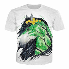 Beautiful Nature Horse T-Shirt For Men/Boys