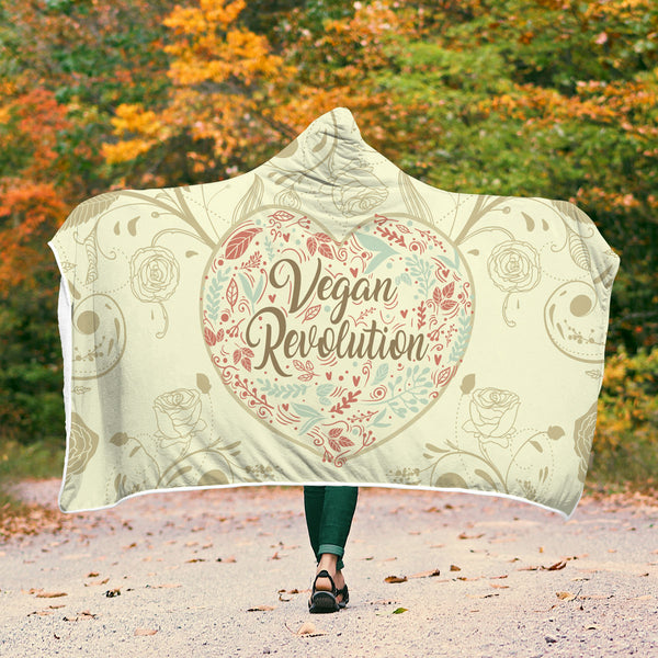 Vegan Revolution Hooded Blanket - Wish Epic