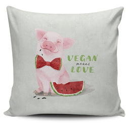 Vegan Means Love - Pillow Cover