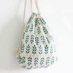 Gentle Flowers Organic Cotton Backpacks