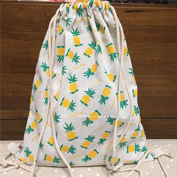 Heavenly Pineapple Organic Cotton Backpack - Wish Epic