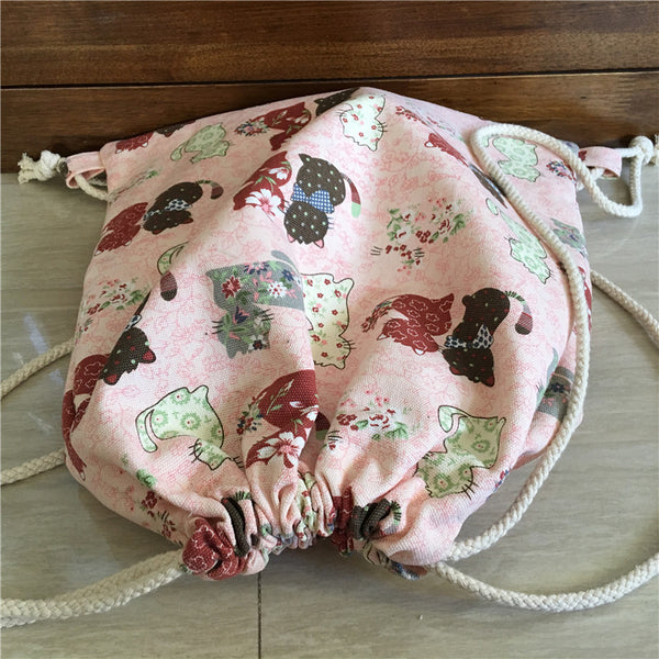 Cute Cats Organic Cotton Backpack - Wish Epic