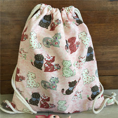 Cute Cats Organic Cotton Backpack