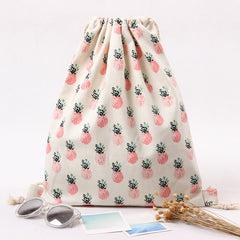 Pink Pineapple Organic Cotton Backpack