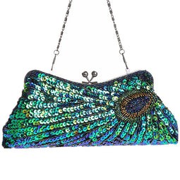 Rainbow Peacock Women's Evening Clutch Bag