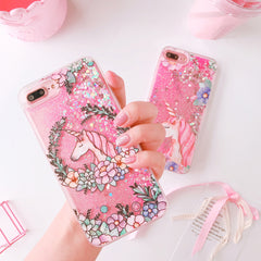 Glittery & Lovely Unicorns iPhone Cases