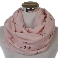 Fashionable Flamingo Infinity Scarves For Ladies