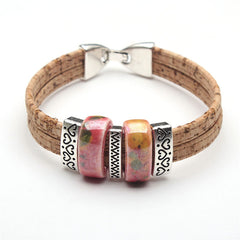 Amazing Ceramic Beads Cork Bracelets