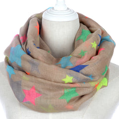 Colorful Rainbow Star Scarf For Ladies