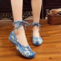 Blue Sea Summer Shoes For Ladies