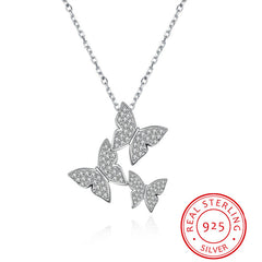 925 Sterling Silver Grace Butterfly Necklace