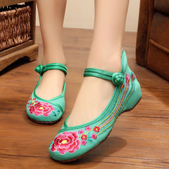 Beautiful Summer Rose Shoes For Ladies