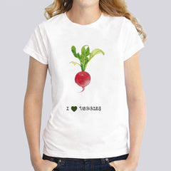 I Love Veggies T-Shirt For Women