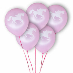 20 pcs Party Decoration Unicorns & Hearts Balloons