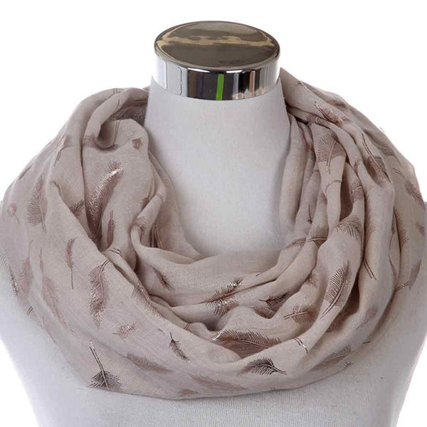 Infinity Feather Scarves For Ladies - Wish Epic