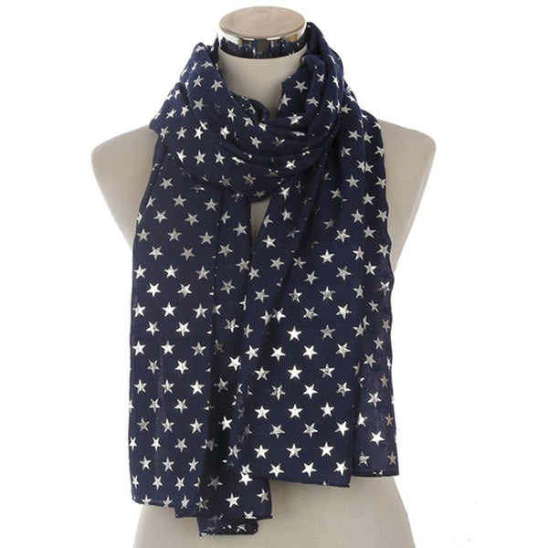 New Design Shiny Star Scarves For Ladies - Wish Epic