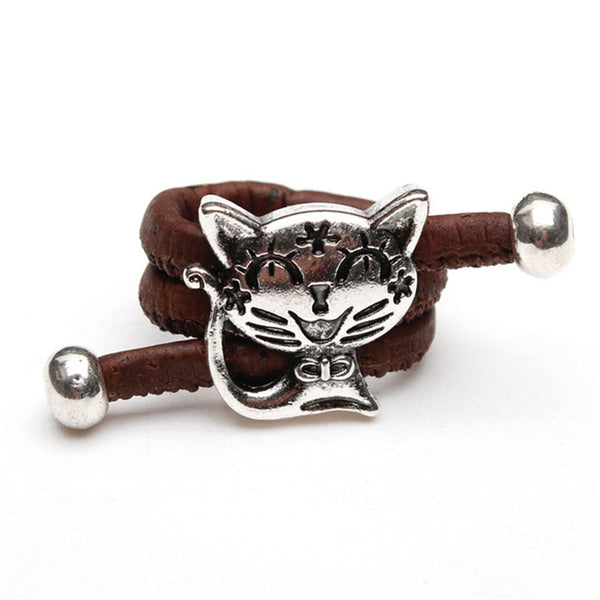 Silver Cat Cork Rings - Wish Epic