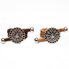 Vintage Flower Cork Rings
