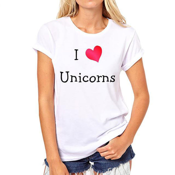 Amazing Unicorns T-Shirts For Women/Girls - Wish Epic