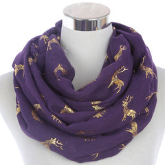 Gracious Deer Scarves For Ladies