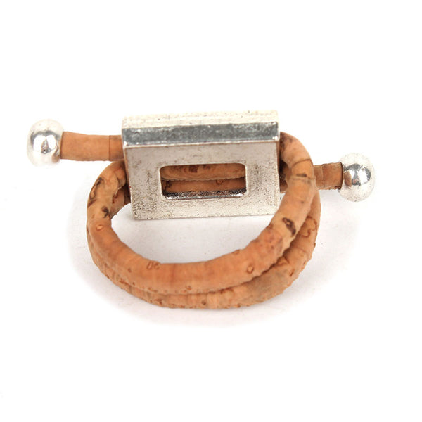 Antique Square Flower Cork Rings - Wish Epic