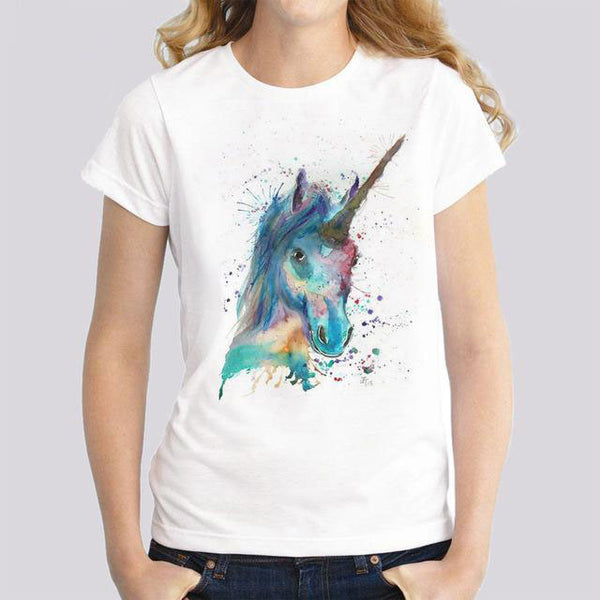 Awesome Unicorns T-Shirts For Women/Girls - Wish Epic