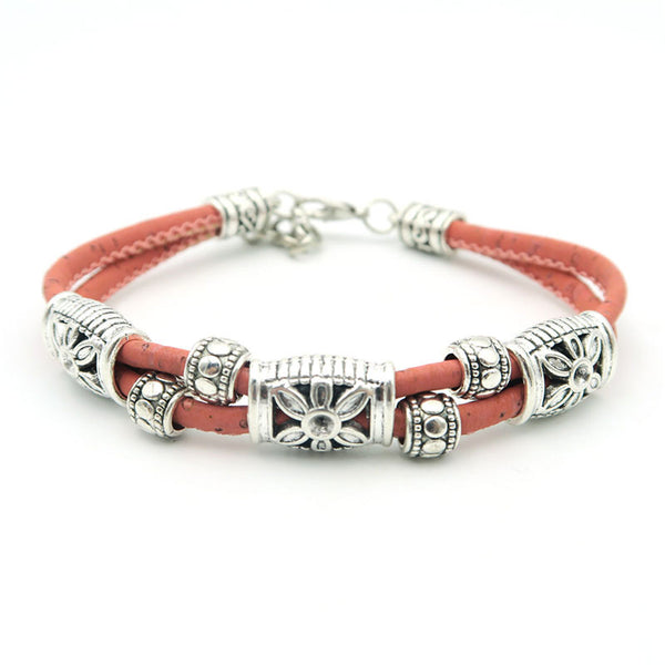 Antique Silver Flowers Cork Bracelets - Wish Epic