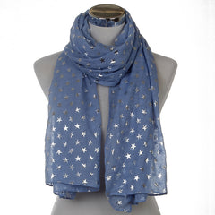 New Design Shiny Star Scarves For Ladies