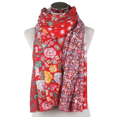 Oversize Floral Patchwork Scarves For Ladies