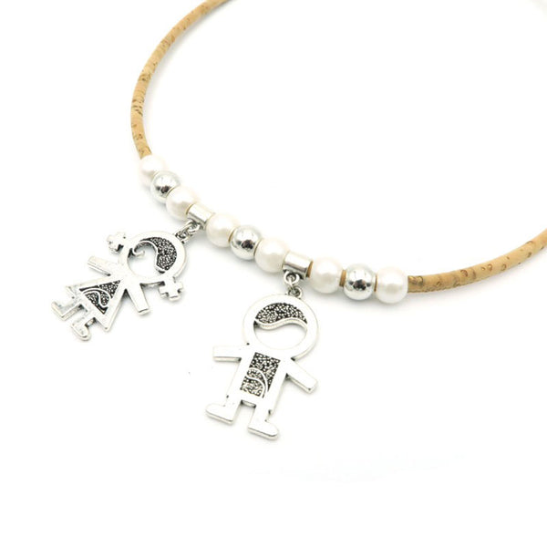 Awesome Boy And Girl Cork Necklace - Wish Epic