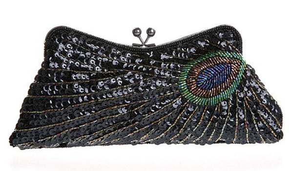 Rainbow Peacock Women's Evening Clutch Bag - Wish Epic