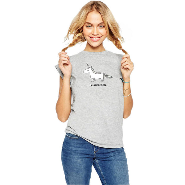 Cute Unicorn T-Shirt for Women/Girls - Wish Epic
