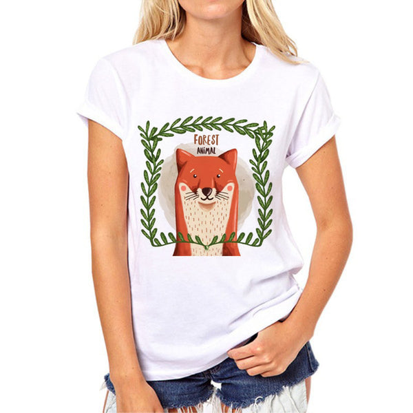 Baby Foxes Cotton T-Shirt For Women - Wish Epic