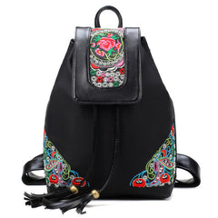 Flower Embroidery Women Backpack