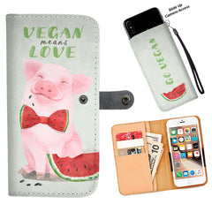 Vegan Means Love - Wallet Phone Case