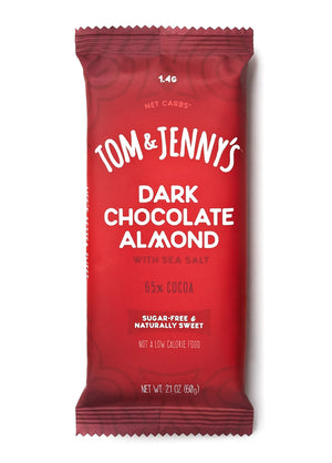 Dark Chocolate Almond with Sea Salt Sugar Free Chocolate Bar