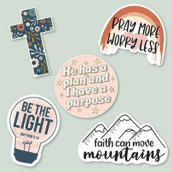 Christian-inspired sticker pack