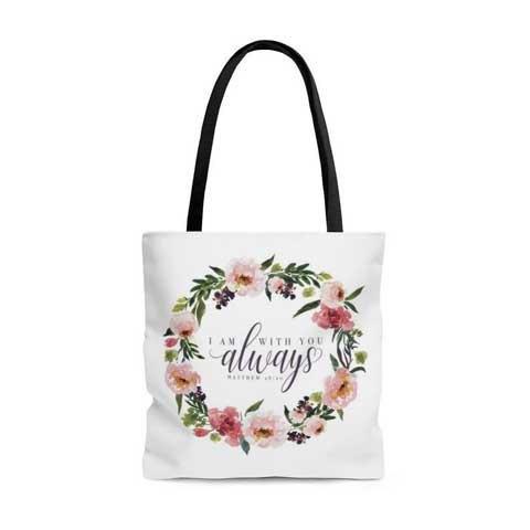 A tote bag featuring Psalm 93:4