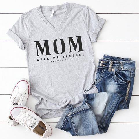 shirt with a Bible verse about being a mom