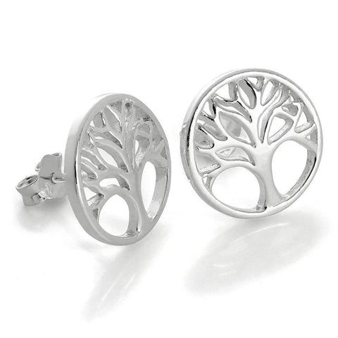 Earrings featuring a tree of life