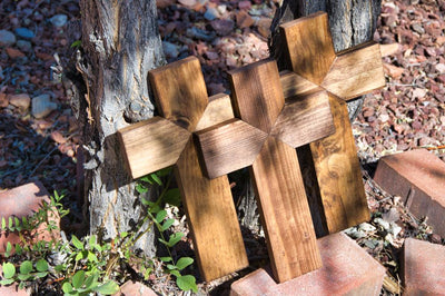Stained Triple Cross