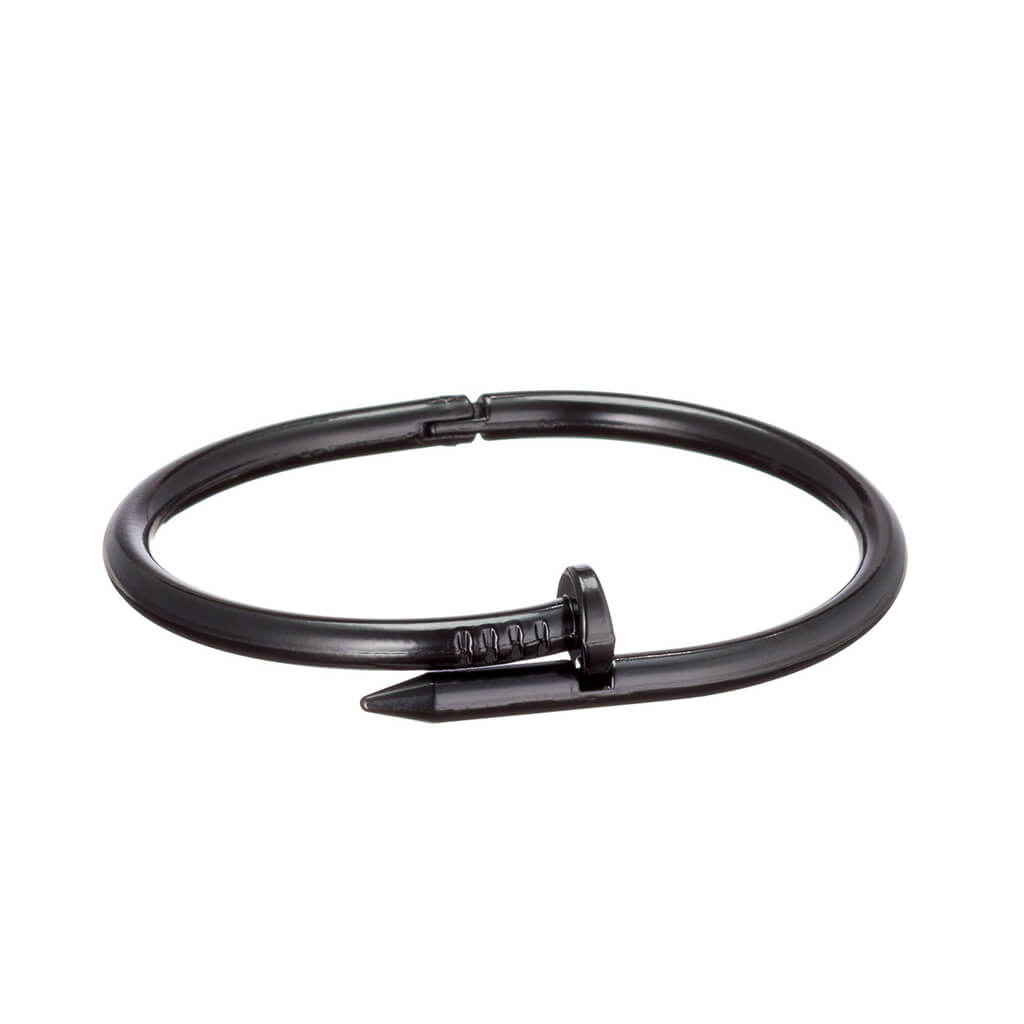 Nail bracelet with clasp in black symbolizing Jesus's ultimate sacrifice