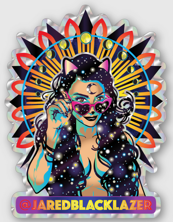 Moon Phase Prismatic Sticker 3 pack